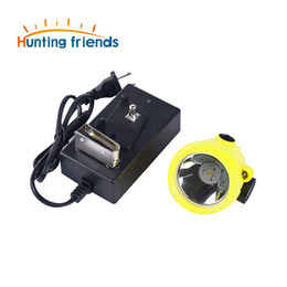Discount mining hunting lights 12pcs lot Mining Headlamp Explosion Rroof Mining Light Waterproof Mining Cap Lamp Rechargeable Coal Mine Lamp Hunting He