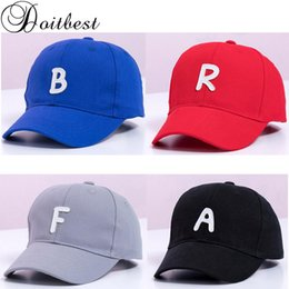 $enCountryForm.capitalKeyWord Australia - wholesale 2 to 7 Years old Spring Children Baseball Cap Boy Girls Embroidery letters Snapback adjustable Kid Hip Hop Hat Sun
