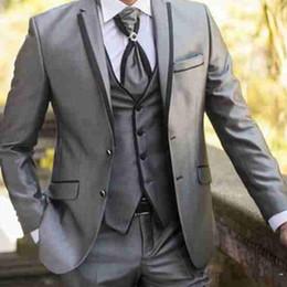 $enCountryForm.capitalKeyWord Australia - Fashion Wedding Tuxedos Groom Groomsman Wear Wedding Formal Swallowtail Tailcoat Trousers Prom Formal Business Suit Jacket+Pants+Vest