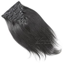 VMAE 200G自然カラーフルキューティクル整列クリップINSヨーロッパブラジルのバージン人間の女性シルキーストレートヘアエクステンションレミー未処理