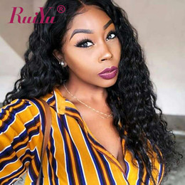 malaysian wavy human hair Canada - Water Wave Wigs Glueless Virgin Wavy Hair Wigs For Black Women 13X6 Deep Part Human Hair Lace Front Wig Malaysian Remy Lace Wig