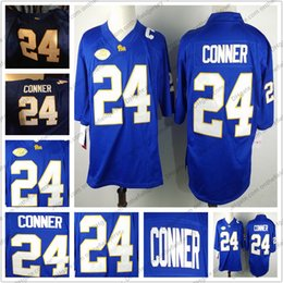 $enCountryForm.capitalKeyWord NZ - Pittsburgh Panthers Pitt #24 James Conner Stitched Name Number Logo royal blue NCAA College Football Jersey Good Quality S-3XL