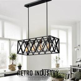 $enCountryForm.capitalKeyWord Australia - Vintage loft light lamp iron cage chandelier bar pub cafe restaurant hall aisle corridor clothing living room dining room lights