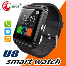 note smart watch NZ - Bluetooth Smartwatch U8 Smart Watch Phone Mate Wrist Touch Watches for iPhone 4S 5 5S Samsung S4 S5 Note 2 3 HTC Android Phone Smartphone