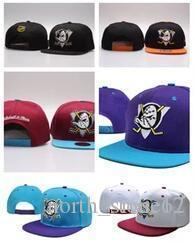 anaheim mighty ducks snapback Canada - Wholesale Cheap newest Mighty Hockey Bones Snapback Hats Anaheim Ducks bone cap men Flat Fashion nhl Hats sports Cheap women baseball caps