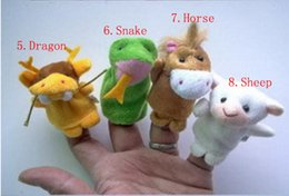 Used Toys Wholesale Australia - HOT NEW 12pcs=1lot 12 Zodiac Finger Puppets Story telling Doll Kids Children Baby Educational Toys RPG use Role play Toy Group #32