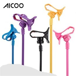 Red coloR mobiles online shopping - AICOO Multi function Universal Mobile Phone Holder Candy Color Bedside Creative Snap on Plastic Lazy Stand for Phone Less than Inch OPP