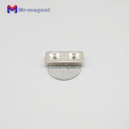 Countersunk Neodymium Magnets Australia - 2019 imanes 10pcs F30x10x4 Mm Screw Hole 5mm N35 Strong Square Ndfeb Magnet 30*10*4-5 Countersunk Neodymium 30x10x4-5mm Fridge Magnets