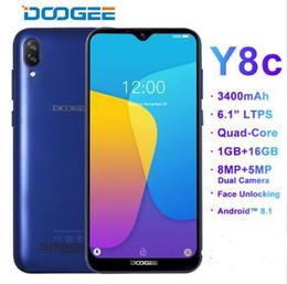 Doogee 16gb online shopping - DOOGEE Y8c Android inch Waterdrop LTPS Screen Smartphone MTK6580 GB RAM GB ROM mAh Dual SIM MP MP WCDMA