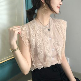 Black lace cardigan sweater online shopping - Real Photos Girls O neck Sleeveless Thin Sweaters Cardigans Woman Patchwork Hollow Out Lace Tank Summer Knitwear For Female