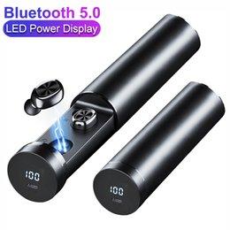 TWS Bluetooth auriculares Alimentação Display sem fio fone de ouvido HIFI Earbuds desportivas com MIC Gaming Headset Música Para iOSAndroid nova em Promoção