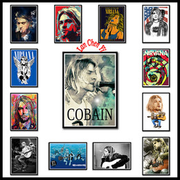 pink decorative paintings Australia - Nirvana Singer Poster Kurt Cobain Rock Music White Coated Paper posters Painting Bar Wall Decorative Painting Singer Poster