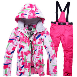 Khaki Peach Suits Australia - 2018RIVIYELE NEW Super Warm Men Ski Suit Waterproof Breathable Windproof Outdoor Sport Wear Skiing Snowboard Jacket+Pants