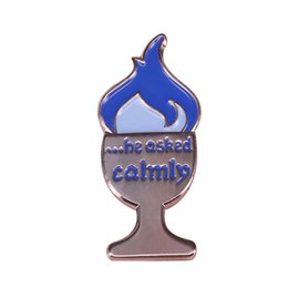 Magic fire online shopping - He asked calmly brooch blue fire pin cool HP magic collection