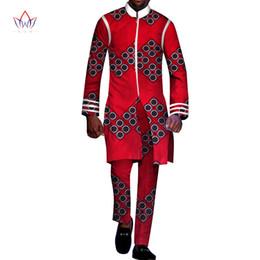 b01c673b58774 2018 natural Autumn Mens African Clothing Plus Size 6XL dashiki men 2  Pieces Plus Size african mens cotton clothing BRW WYN233