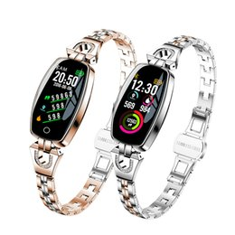 h8 smart watch Australia - H8 Smart Watch Women Sports Fitness Waterproof Heart Rate Monitoring Bluetooth For Android IOS Fitness Bracelet Smartwatch