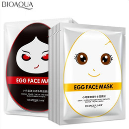korean whitening mask 2019 - BIOAQUA Eggs Facial Mask Moisturise Revitalizing Silk Mask Shine Bright Whitening Beauty Face Mask Face Care Korean Cosm