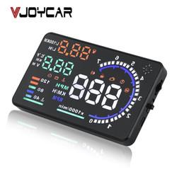 "Car Heads Up Display Australia - hud speed VJOYCAR A8 5.5"" HUD Car Head Up Display LED Windscreen Projector OBD2 Scanner Speed Warning Fuel Consumption Data Diagnostic"