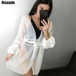 $enCountryForm.capitalKeyWord Australia - Riseado 2019 Long Beach Dress Long Sleeve Swimwear Women Cover Ups Hollow Swimsuit Bathing Suits Solid Sexy Mesh Beachwear Y190727