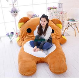 Carpet Bags Australia - Dorimytrader 200cm X 150cm Large Soft Cute Anime Rilakkuma Beanbag Carpet Tatami
