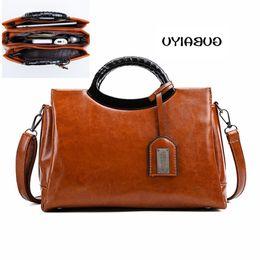Wax Oiled Handbags Australia - Women Oil Wax Leather Designer High Quality Shoulder Bags Ladies luxury Handbags Fashion Luxurious Brand Women Bag Bolsa handbag