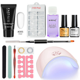 $enCountryForm.capitalKeyWord NZ - wholesale Fast Extension Nail Varnish Poly Gel UV Quick Builder Polygel Set Camouflage UV LED Gel Lacquer 36w Nails Lamp Kit