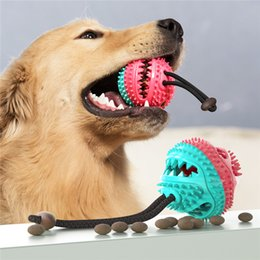 tooth toys NZ - Multifunction Dog Toys Ball Toys with Suction Cup Dog Chews Toy Cleaning Teeth Dog Food Dispensing Teeth Cleaning
