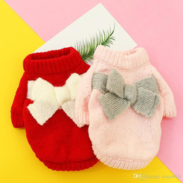 clothes for bears Australia - Dog clothes pet clothes for dogs coat puppy pet clothes autumn and winter thick Teddy bear Xiong Bomei cat costume chenille bow sweater new