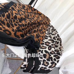 leopard scarf cotton NZ - Korea East Gate Black border scarf Ms Cotton and linen Leopard scarf Long section Thicken Warm big shawl factory wholesale