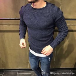 sweater holes sleeves Australia - Luxury Holes Mens Sweaters Slim Long Sleeve O Neck Stretch Mens Sweaters Designer Skinny Homme Clothing
