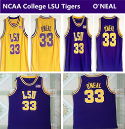 ca5606fd8fc Discount basketball jersey tiger - men s NCAA College LSU Tigers  33 Shaq  O NEAL