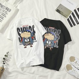 $enCountryForm.capitalKeyWord Australia - Summer ins short-sleeved T-shirt male Korean version of the trend Japanese street fashion cartoon wild personality loose half-sleeved studen