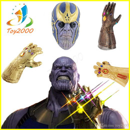 $enCountryForm.capitalKeyWord Australia - Avengers 3 Infinity War Thanos Weapon Infinity Gloves action figures Gem Silicone Headgear Mask Halloween Carnival Cosplay Dress up Props