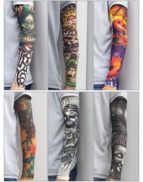 Humor 1pcs Trendy Men Women New High Elastic Fake Temporary Tattoo Sleeve Designs Summer Sunscreen Body Arm Warmers Superior Materials Men's Arm Warmers Apparel Accessories