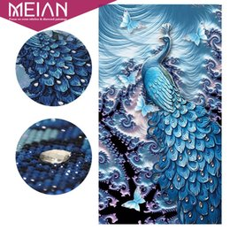 DiamonD painting peacock online shopping - Meian Special Shaped quot Peacock Butterfly quot Animal Diamond Embroidery Full DIY Diamond Painting Diamond Mosaic Bead Diamant Picture