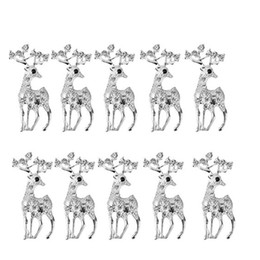 vintage clothes for women NZ - 10Pcs Fashion Personality Brooches Vintage Deer Animal Brooches For Women Elegant Rhinestone Brooch Pin Clothing Decoration Sliv