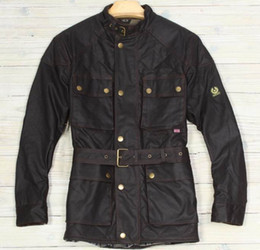 Discount waxed jackets - Men's New waxed jackets Tourist Trophy Black Warm Coat Men Jacket Motorcycle Bomber Jackets Casual Man Washed Coat