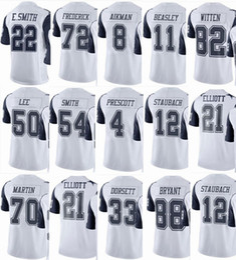 948ff868170 COWBOY Dallas #21 Ezekiel Elliott #4 Dak Prescott #88 Dez Bryant #82 Jason  Witten #50 Sean Men Women Youth Color Rush Elite Football Jerseys