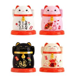 toothpick holder wholesale Australia - Japanese lucky cats shape Toothpick Holder Toothpick Box