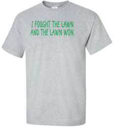 Chinese  I Fought The Lawn And The Lawn Won Adult T-Shirt - Funny Humor Landscaper Gift manufacturers