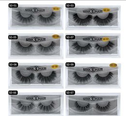 Wholesale Imitated Mink eyelashes 20 styles 3D False Eyelashes Soft Natural Thick Fake Eyelash 3D Eye Lashes mink false eyelash