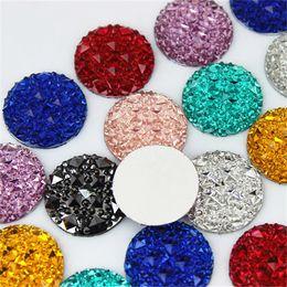 396054d20 Halloween Flatback Resins UK - 100PCS 20MM Resin Round flatback Resin  Rhinestones Crystals and Stone Beads