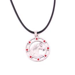 $enCountryForm.capitalKeyWord Australia - YY12 European and American amulet Slavic crystal horse pendant wax rope chain necklace