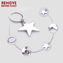 star shaped gifts NZ - Wholesale Fashion New Jewelry Accessories Key Chain for Lovers Gifts Creative Metal Star Shaped Keyring Key Chains 10 PCS LOT