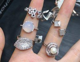 Zircon Rings Prices Australia - wholesale 10pcs lots low price high quality 925 silver diamond crystal zircon lady's ring random mix size*style 3.9rvc