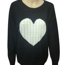 $enCountryForm.capitalKeyWord Australia - Sweater warm woman o neck winter and autumn knitted pullover heart print pullover warm jumper clothing pull femme