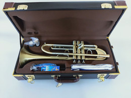 Wholesale New Bach Trumpet Original B flat trumpet LT197GS-77 musical instrument heavier type Gold plating Trumpet playing music