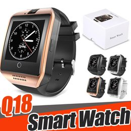 Bluetooth Smart Watch Sim Australia - Smart Watch With Camera, Q18 Bluetooth Smartwatch SIM TF Card Slot Fitness Activity Tracker Sport Watch For IOS Android With Retail Box