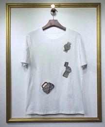$enCountryForm.capitalKeyWord Australia - 2019 brand fashion luxury designer mens Watch handbag badge embroidery Fashionable Round Neck T-shirts Men's short sleeve T-shirt