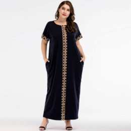 402784f1eec Casual Print Maxi Dress Knitted Muslim Abaya Full Skrit Loose Kimono Long  Robe Gowns Ramadan Middle East Arab Islamic Clothing